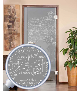 Ganzglastür gelasert Formeln