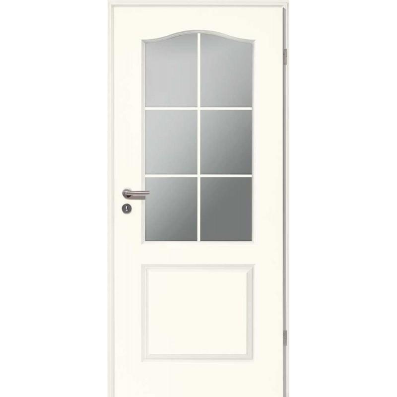 Holztüren - Stiltür Weißlack 4002B mit LA und Sprossen
