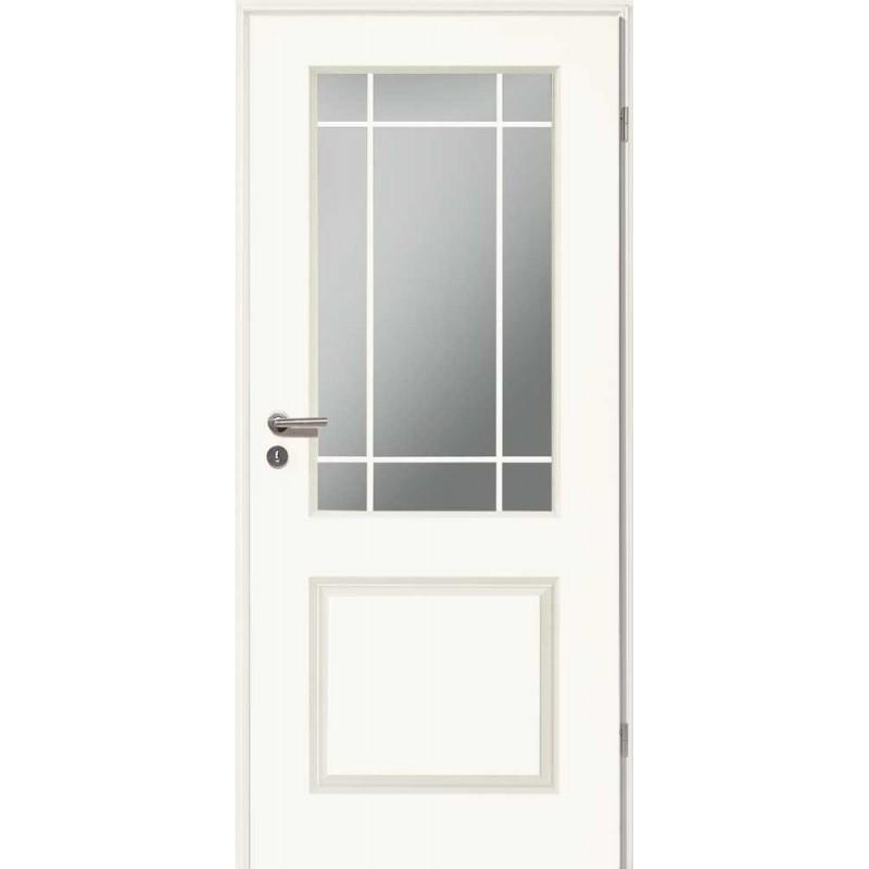 Holztüren - Stiltür Weißlack 4002 mit LA und Sprossen-4