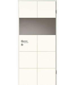 Holztüren - Designtür Weißlack 2507 (RAL9010) mit LA-Quer