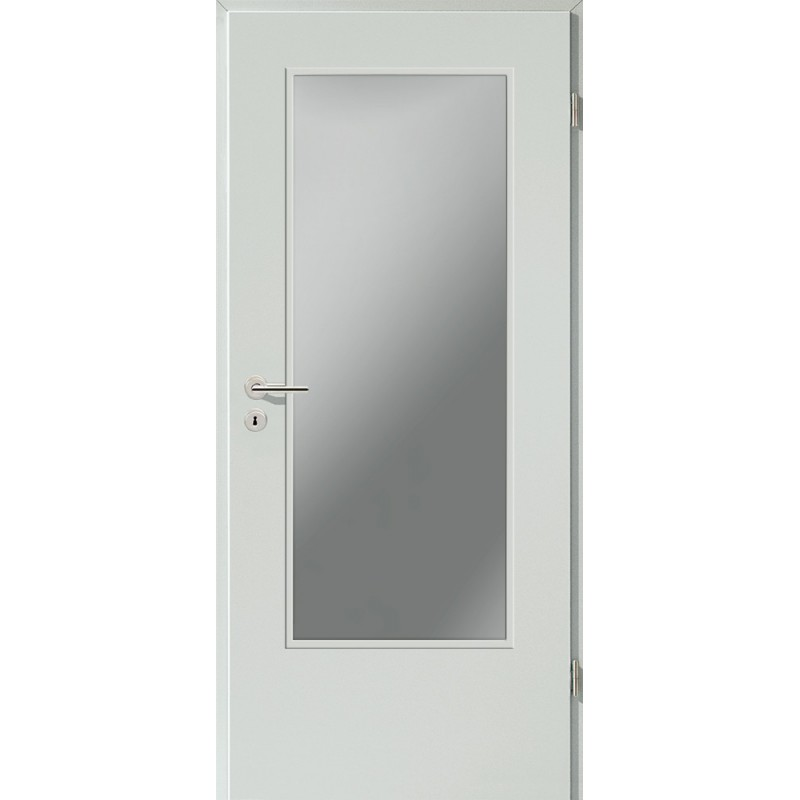 Holztüren - Türblatt CPL - Hellgrau mit Lichtausschnitt