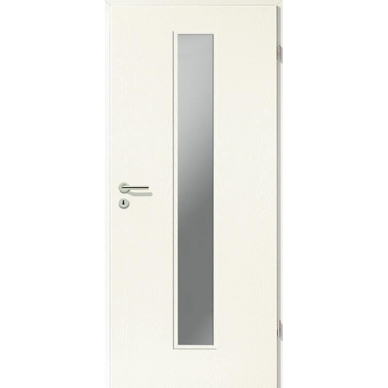 Holztüren - Türblatt CPL - Esche Weiß mit Lichtausschnitt LA-1