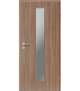 Holztüren - Türblatt CPL - Nussbaum mit Lichtausschnitt LA-1