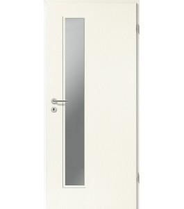 Holztüren - Türblatt CPL - Esche Weiß mit Lichtausschnitt LA-1D