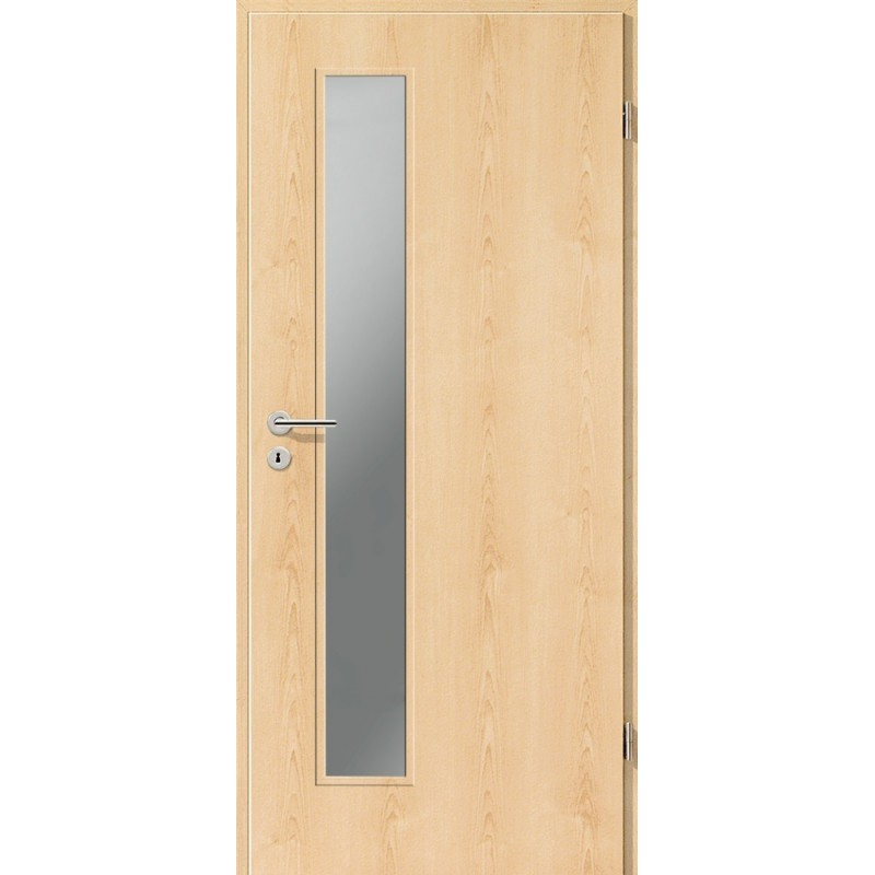 Holztüren - Türblatt CPL - Ahorn Natur mit Lichtausschnitt LA-1D