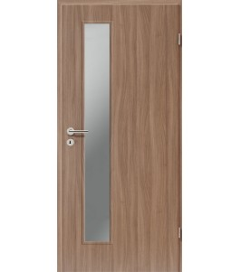 Holztüren - Türblatt CPL - Nussbaum mit Lichtausschnitt LA-1D