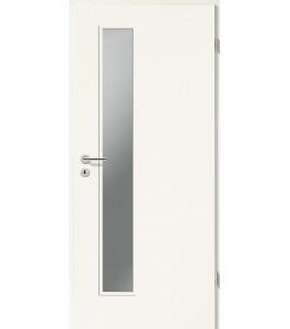 Holztüren - Türblatt CPL - Uni Weiß mit Lichtausschnitt LA-1D