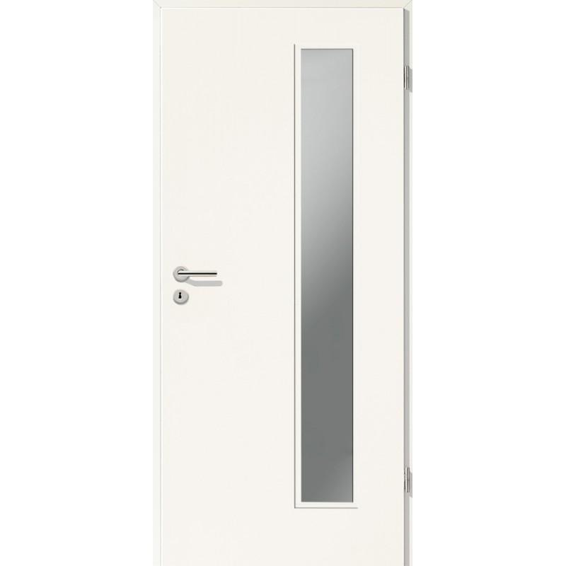 Holztüren - Türblatt CPL - Uni Weiß mit Lichtausschnitt LA-1B