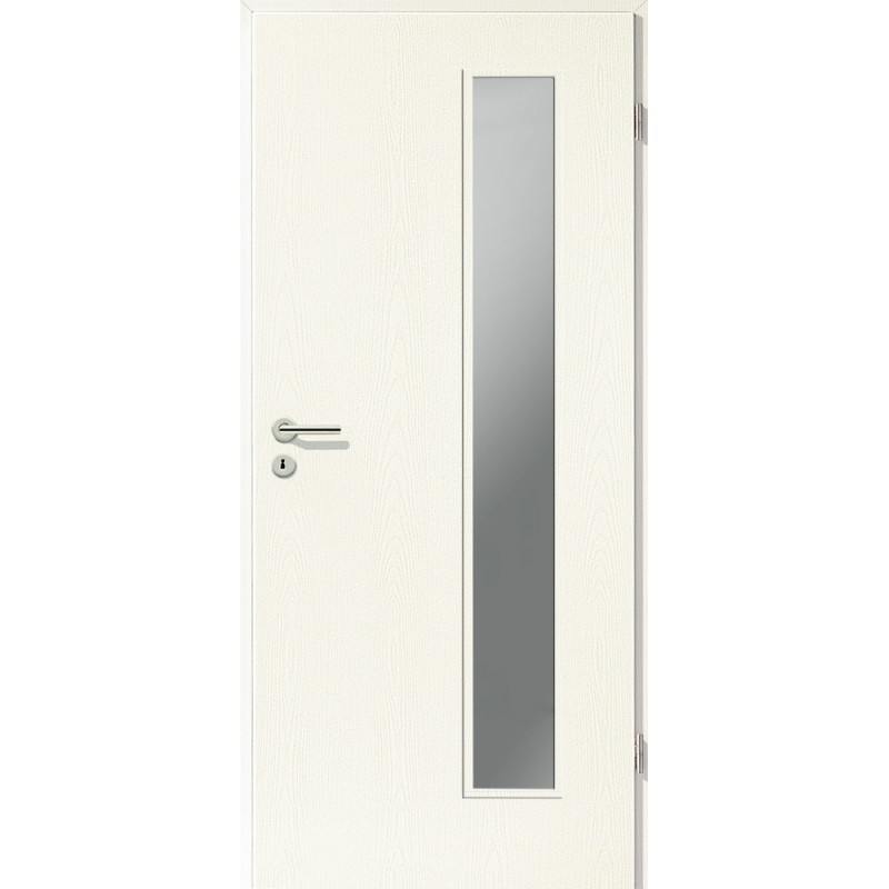 Holztüren - Türblatt CPL - Esche Weiß mit Lichtausschnitt LA-1B