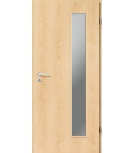 Holztüren - Türblatt CPL - Ahorn Natur mit Lichtausschnitt LA-1B