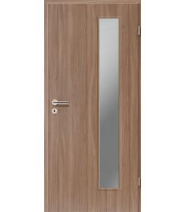 Holztüren - Türblatt CPL - Nussbaum mit Lichtausschnitt LA-1B