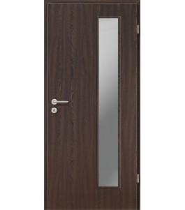 Holztüren - Türblatt CPL - Wenge mit Lichtausschnitt LA-1B