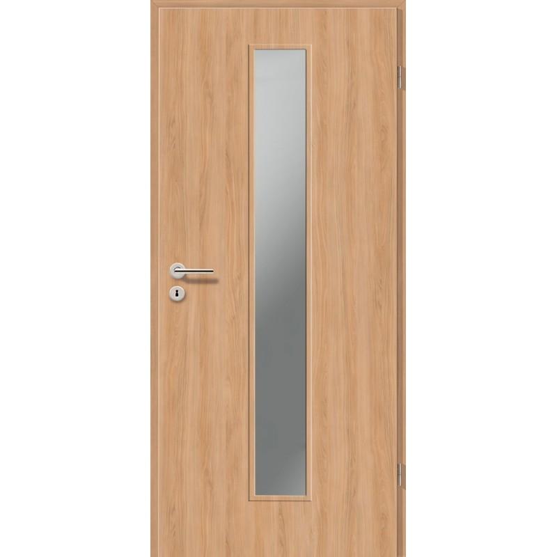 Holztüren - Türblatt CPL - Birnbaum Modern mit Lichtausschnitt