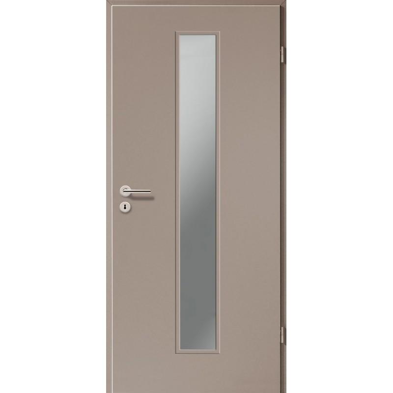 Holztüren - Türblatt CPL - Macchiato mit Lichtausschnitt LA-1