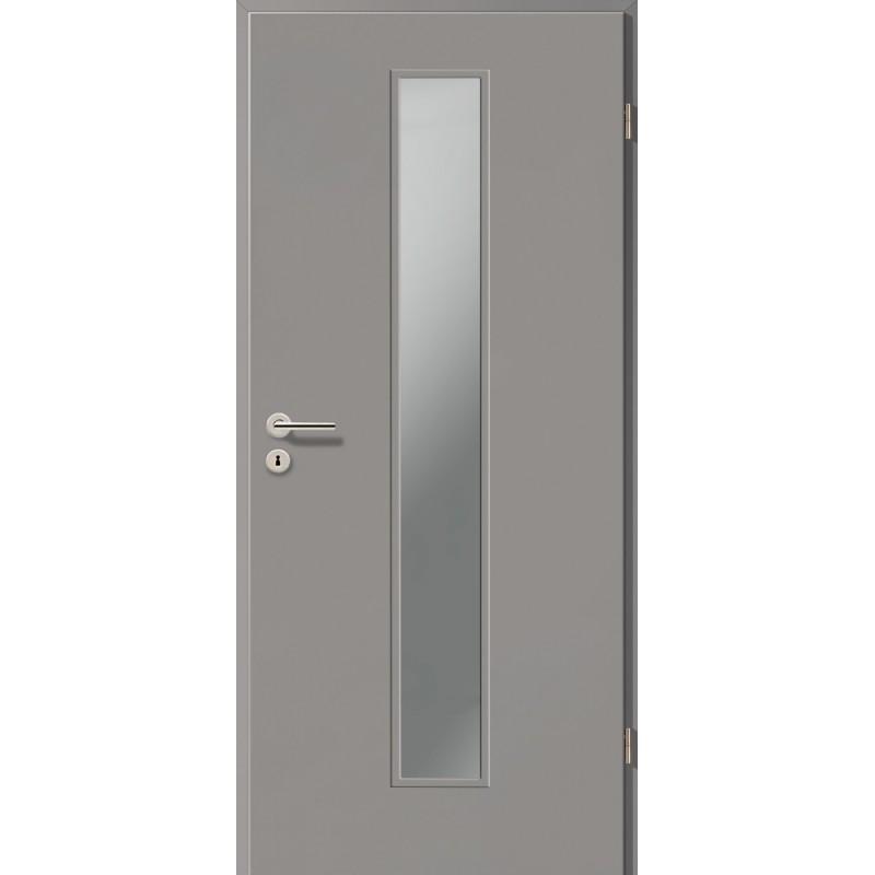 Holztüren - Türblatt CPL - Kitt mit Lichtausschnitt LA-1