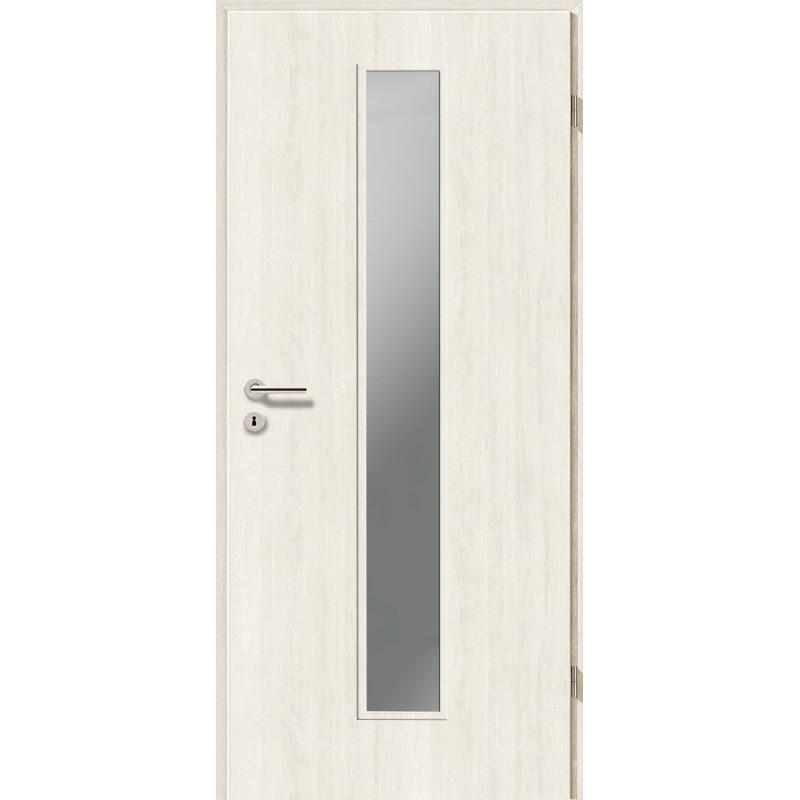 Holztüren - Türblatt CPL - Pinie Weiß mit Lichtausschnitt LA-1