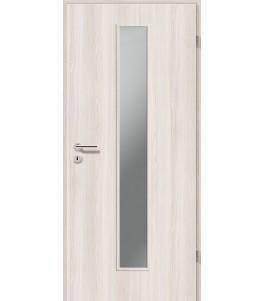 Holztüren - Türblatt CPL - Lärche Weiß mit Lichtausschnitt LA-1