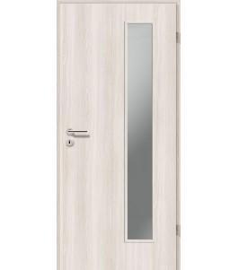 Holztüren - Türblatt CPL - Lärche Weiß mit Lichtausschnitt LA-1B