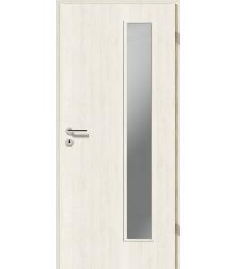 Holztüren - Türblatt CPL - Pinie Weiß mit Lichtausschnitt LA-1B