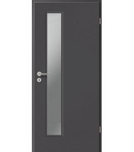 Holztüren - Türblatt CPL - Achat mit Lichtausschnitt LA-1D
