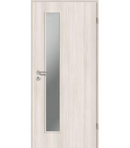Holztüren - Türblatt CPL - Lärche Weiß mit Lichtausschnitt LA-1D
