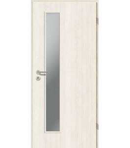 Türblatt CPL - Pinie Weiß mit Lichtausschnitt LA-1D