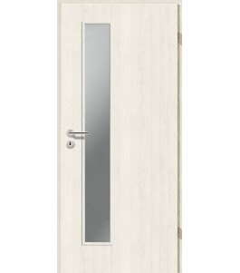 Holztüren - Türblatt CPL - Pinie Weiß mit Lichtausschnitt LA-1D