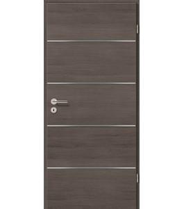 Lisenen-Türen - Pinie Grau Cross
