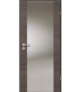 Holztüren - Türblatt - Pinie Grau Cross mit Lichtband 2100