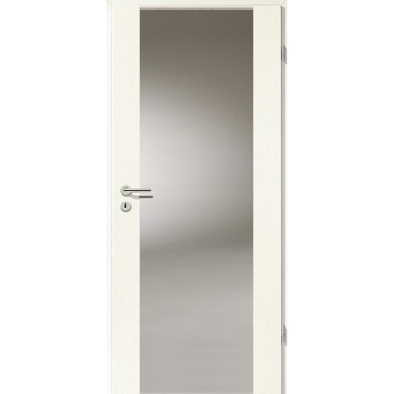 Holztüren - Türblatt - Esche Weiß mit Lichtband 2100