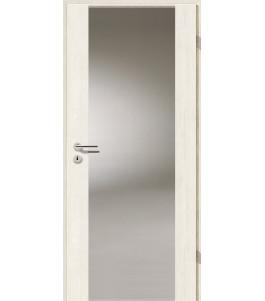 Holztüren - Türblatt - Pinie Weiß mit Lichtband 2100