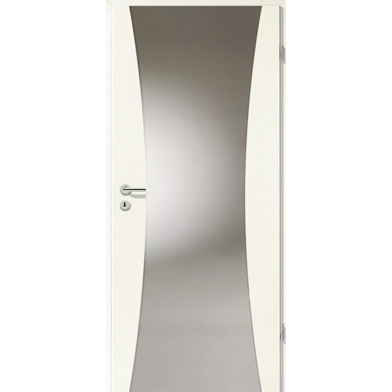 Holztüren - Türblatt - Esche Weiß mit Lichtband 2300