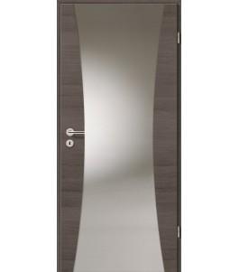Türblatt - Pinie Grau Cross mit Lichtband 2300