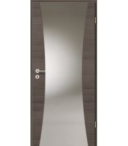 Holztüren - Türblatt - Pinie Grau Cross mit Lichtband 2300