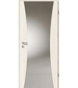 Holztüren - Türblatt - Pinie Weiß Cross mit Lichtband 2300
