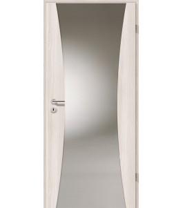 Holztüren - Türblatt - Lärche Weiß mit Lichtband 2300