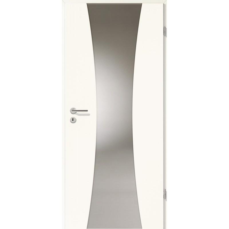 Holztüren - Türblatt - Arctic Weiß mit Lichtband 2301