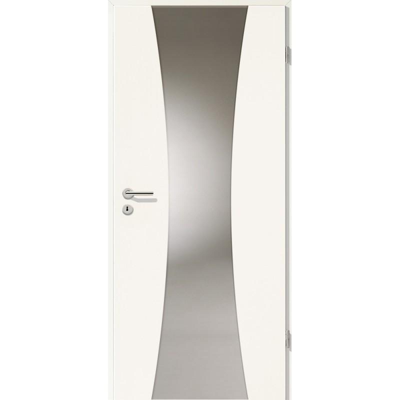 Holztüren - Türblatt - Uni Weiß mit Lichtband 2301