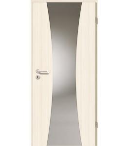 Holztüren - Türblatt - Coco Bolo Weiß mit Lichtband 2301