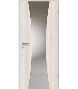 Holztüren - Türblatt - Lärche Weiß mit Lichtband 2301