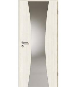 Holztüren - Türblatt - Pinie Weiß mit Lichtband 2301