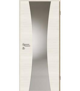 Türblatt - Pinie Weiß Cross mit Lichtband 2301