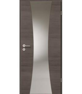 Holztüren - Türblatt - Pinie Grau Cross mit Lichtband 2301