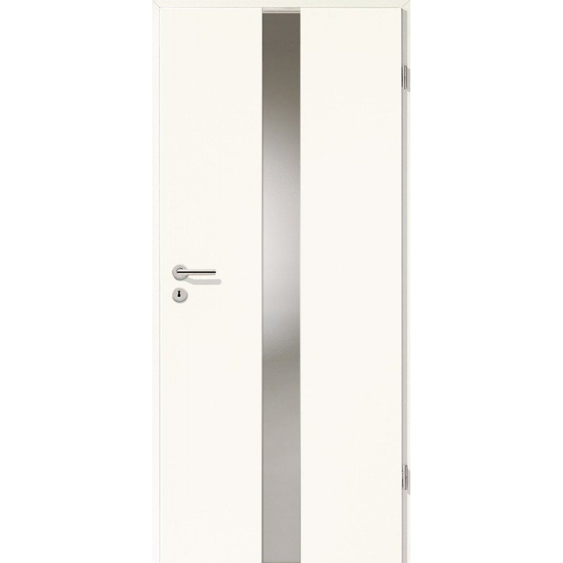 Holztüren - Türblatt - Arctic Weiß mit Lichtband 2201