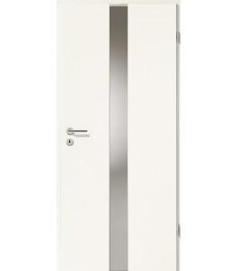 Türblatt - Uni Weiß mit Lichtband 2201