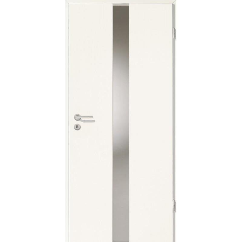 Holztüren - Türblatt - Uni Weiß mit Lichtband 2201