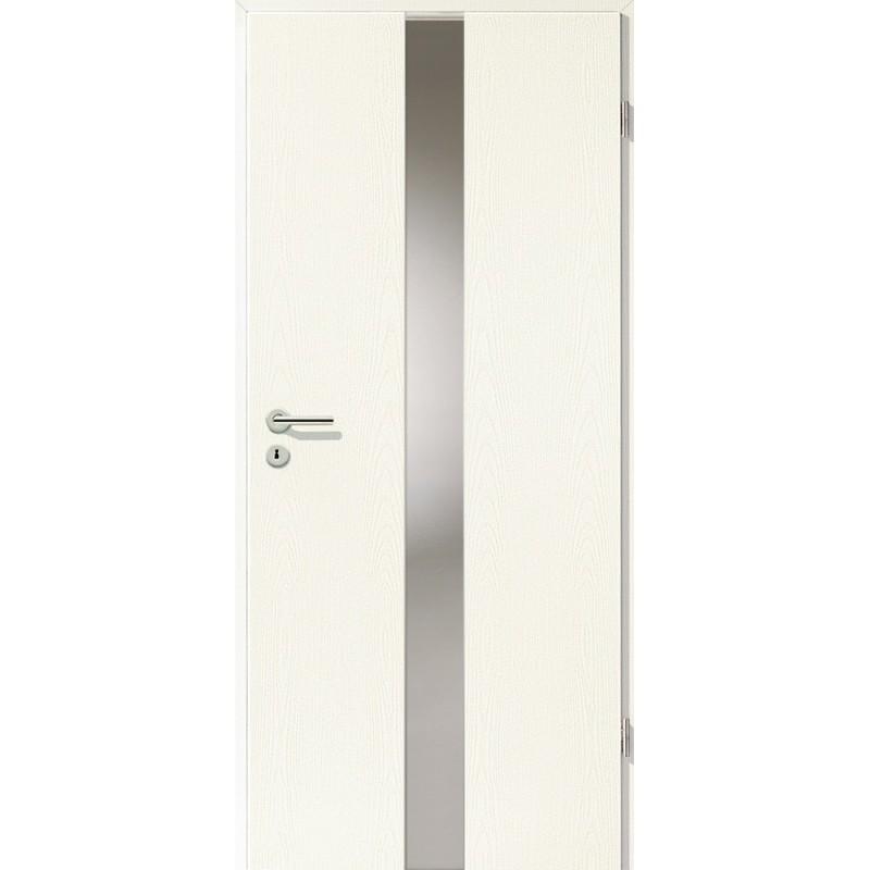 Holztüren - Türblatt - Esche Weiß mit Lichtband 2201