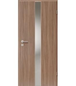 Holztüren - Türblatt - Nussbaum mit Lichtband 2201