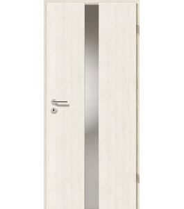 Türblatt - Pinie Weiß mit Lichtband 2201
