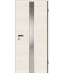 Türblatt - Pinie Weiß Cross mit Lichtband 2201